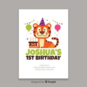 Children birthday invitation template