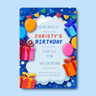 Children  birthday invitation