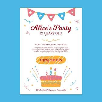 Children birthday poster template