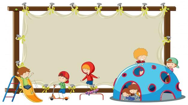 Children on blank board