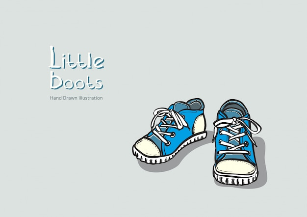 Children blue boots