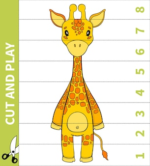 Children board animal game cut  and play for number in place for preschoolers and primary school students worksheets.