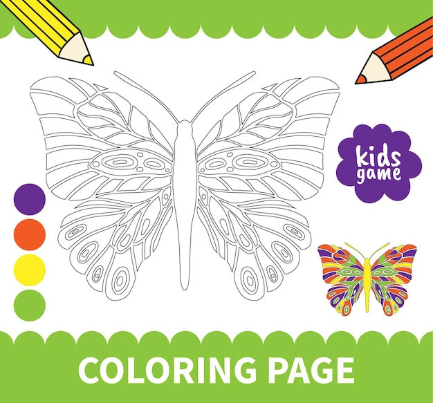 Children board coloring page game for preschoolers and primary school students worksheets