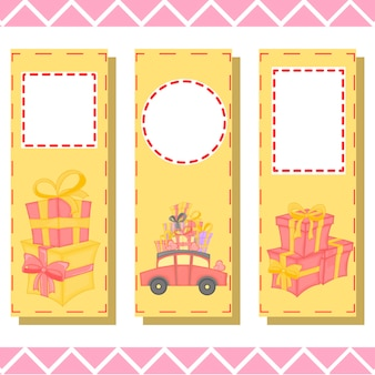 Children, book bookmarks with gifts,