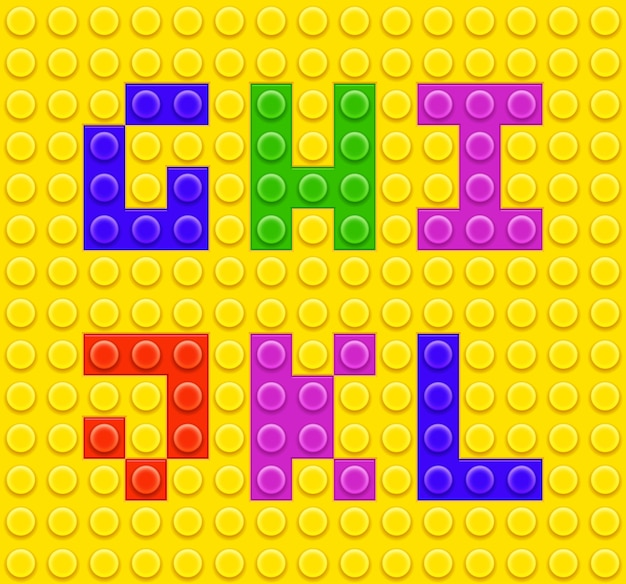 Children brick toys alphabet