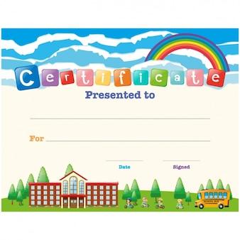Children certificate design