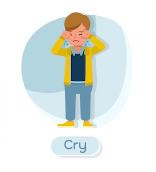Children character. cry.