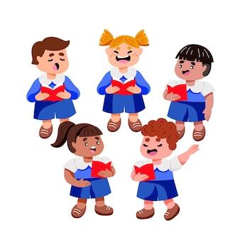 Children choir illustration