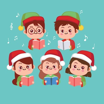 Children choir illustration