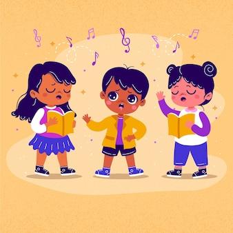 Illustrazione del coro dei bambini