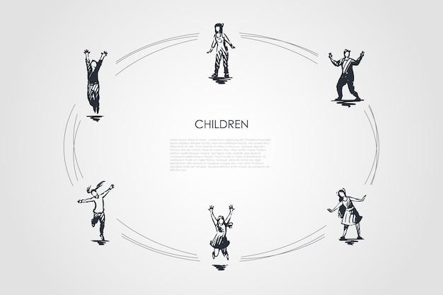 Детский набор концепции иллюстрации