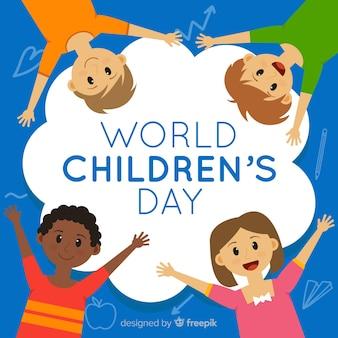 フラットなデザインの子供の日の概念