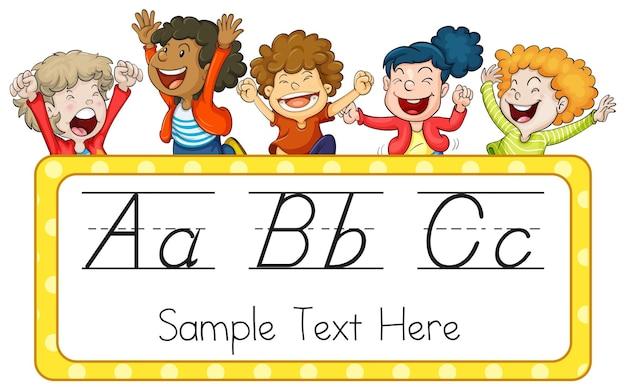 Bambini e alfabeti inglesi