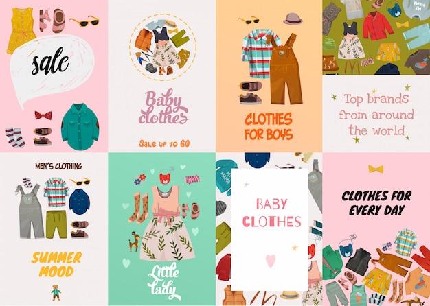 Children fashion cards