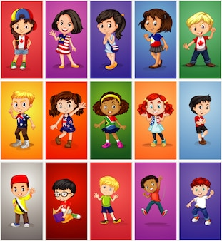 Bambini di diversi paesi