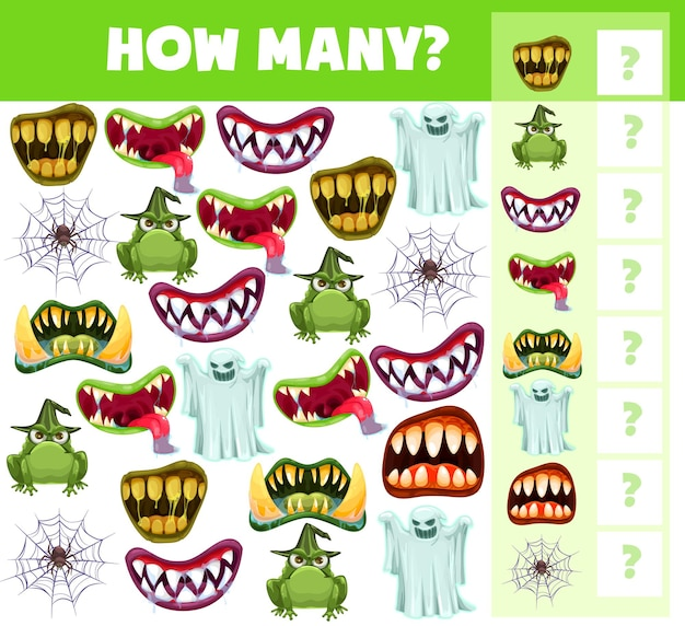 Children halloween i spy game with counting task