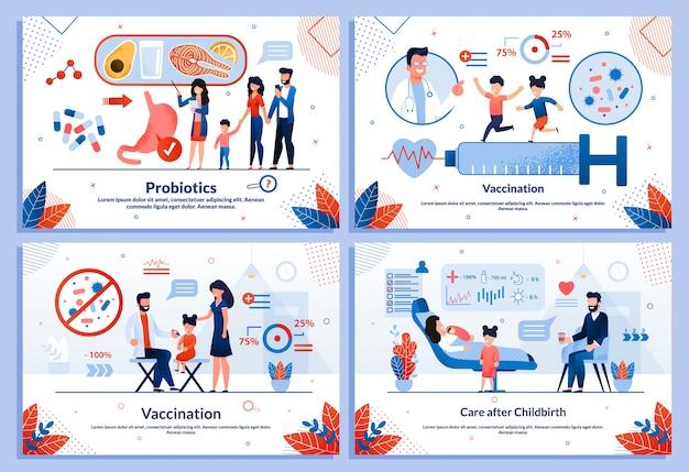 Children healthcare service medical template set