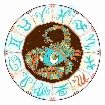 Children horoscope with scorpio sign