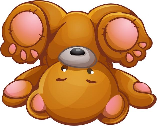Детская иллюстрация плюшевый мишка