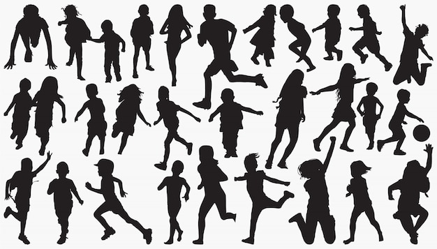 Children kids silhouette