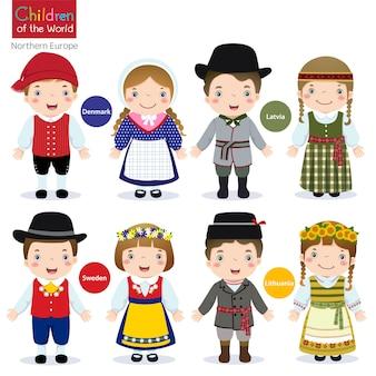 Дети мира-дания-латвия-швеция-литва