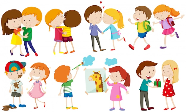 Children and people in love