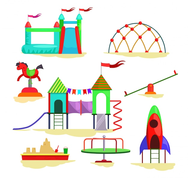 Children playground icons