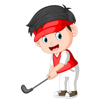 Children profesional golfer