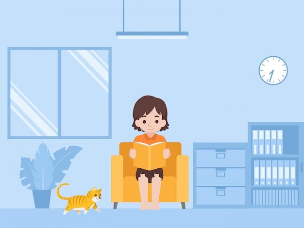 Дети, читающие книжное образование дома, учатся самостоятельно