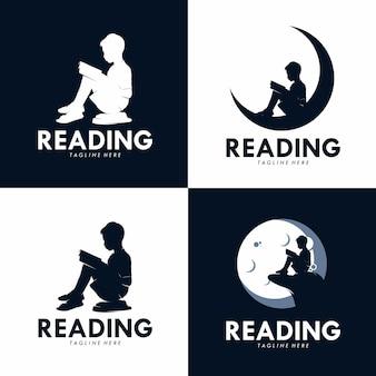 ロゴを読んでいる子供たち