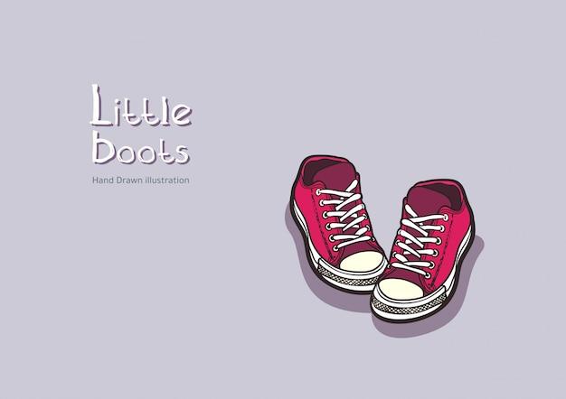 Children red boots