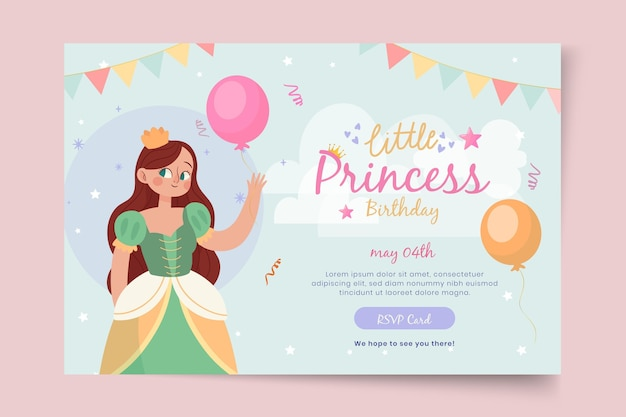 Children's birthday banner template