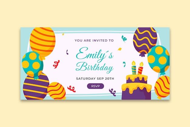 Children's birthday banner template