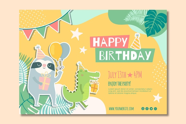 Children's birthday banner