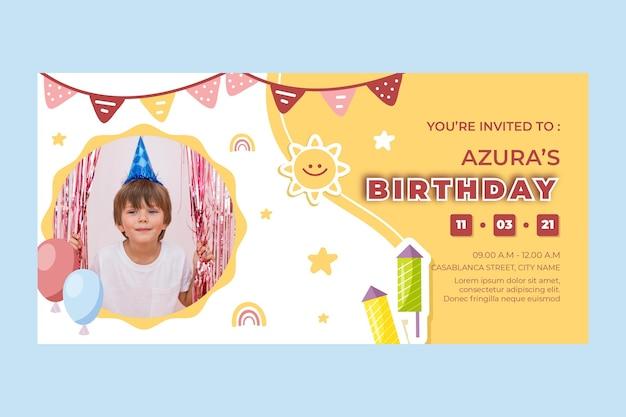 子供の誕生日バナー