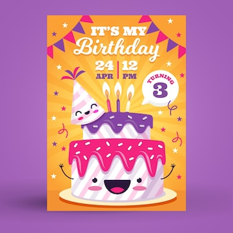 Children's birthday card/invitation template