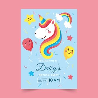 Children's birthday card template