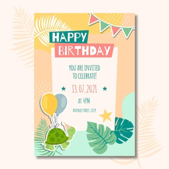 Children's birthday card