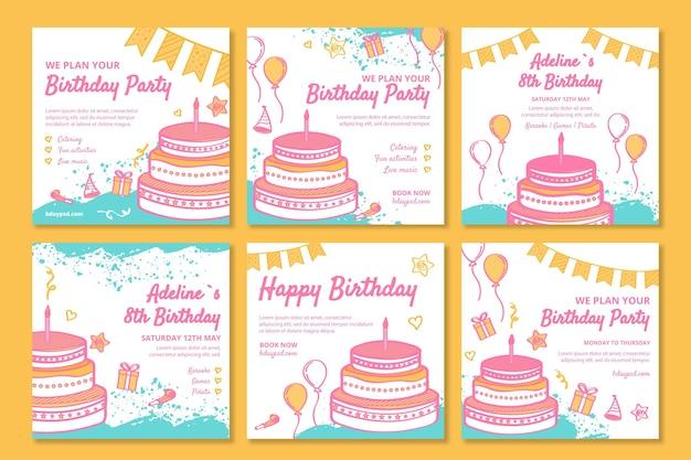 子供の誕生日のinstagramの投稿
