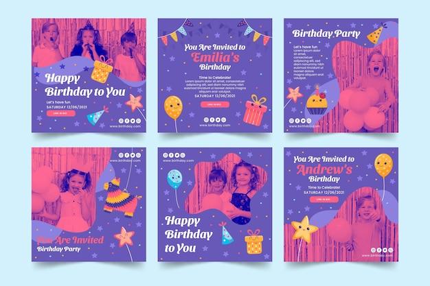 Детские посты в инстаграм на день рождения