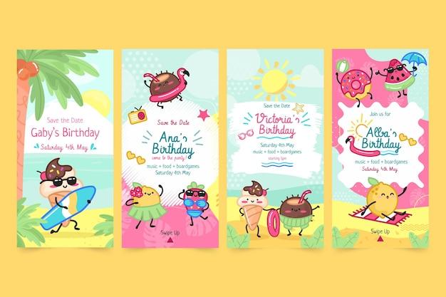 Children's birthday instagram stories collection