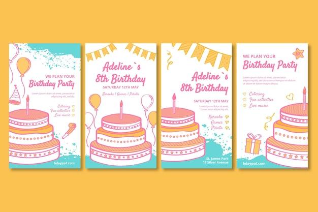 子供の誕生日のinstagramの物語