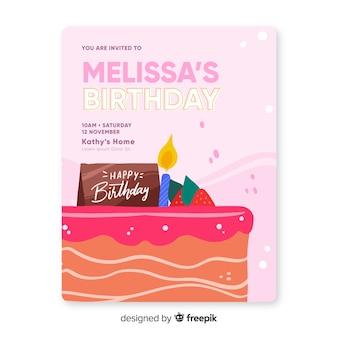 Children's birthday invitation template