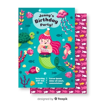 Children's birthday invitation template