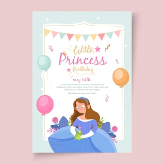 Children's birthday poster template