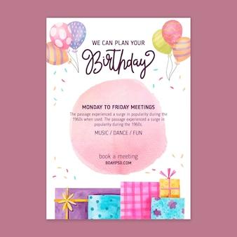 Children's birthday poster template