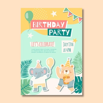 Children's birthday poster