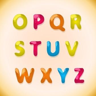 Children's candy alphabet