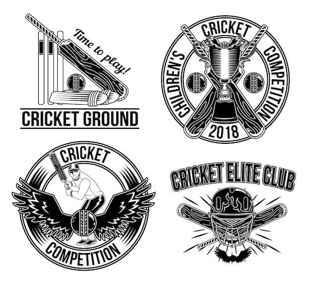 Concorso di cricket per bambini