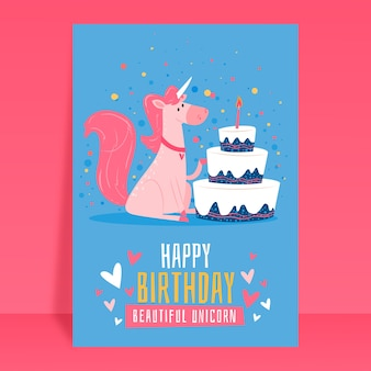 Children's day birthday card invitation template
